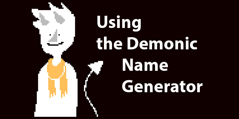 Demonic Name Generator