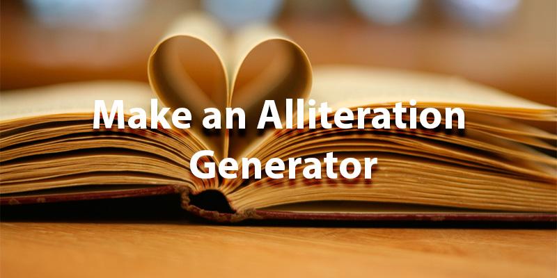 alliteration generator