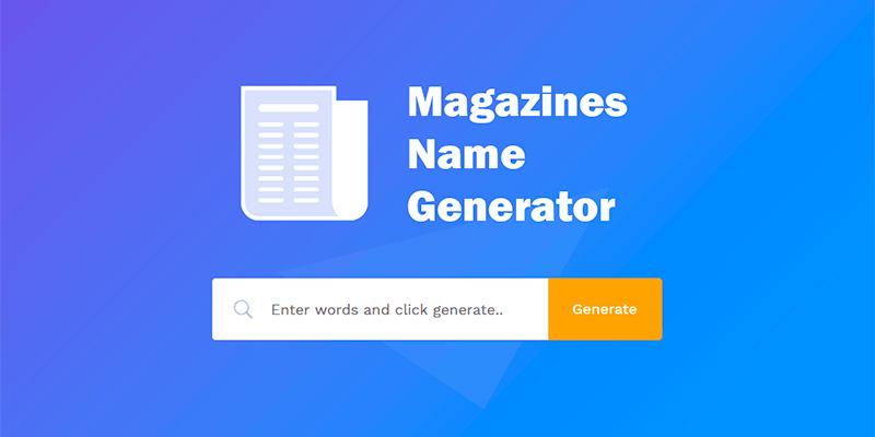 newspaper name generator