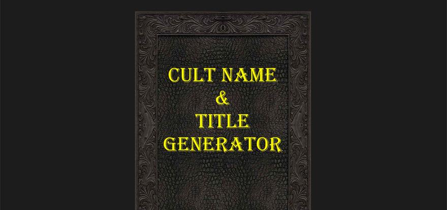 Cult Name Generator